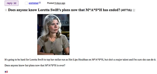 CBS really does need to get its act together and dream up a spin-off for Loretta Swit.
