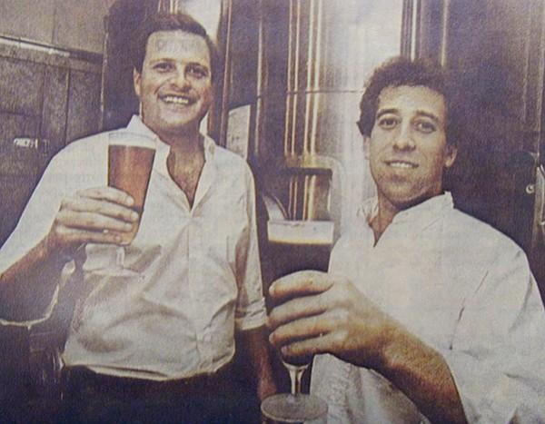 Karl Strauss cofounders Chris Cramer (Karl Strauss's nephew) and Matt Ratner.