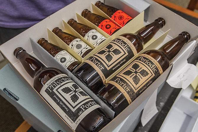 Koochen Vagner — Stone's original name — bottles at the Brewchives