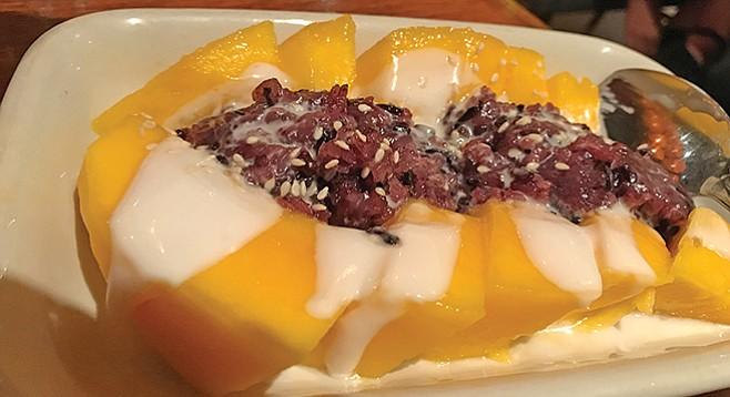 Mango, black sticky rice, coconut milk: does anything else matter?