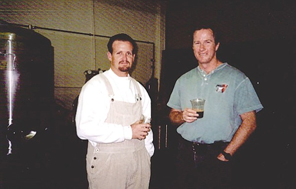 Tomme Arthur and Skip Virgilio of AleSmith. The latter popularized Belgian styles while brewing at Pacific Beach Brewhouse.