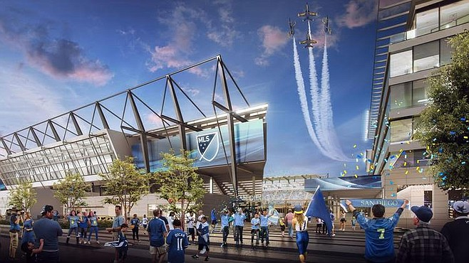 Rendering of SoccerCity proposal