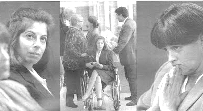 From left: Mindy Brass; Brass in wheelchair; Marguerite Hanes. By the time attorney Marguerite Hanes heard about her, Brass had gone through four years of incarceration. - Image by Charlie Cortez