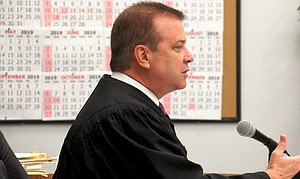 San Diego Superior Court judge Blaine Bowman speaking at sentencing this week.