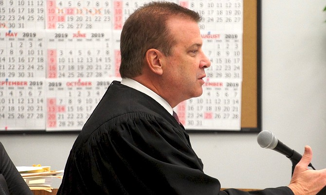 San Diego Superior Court judge Blaine Bowman speaking at sentencing this week.