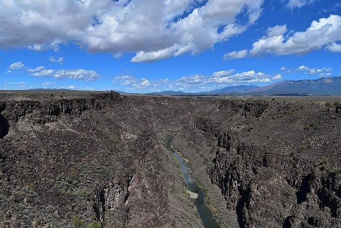 The Rio Grande Gorge from the Rio Grade Bridge, about 10 miles north of Taos New Mexico, October 2018