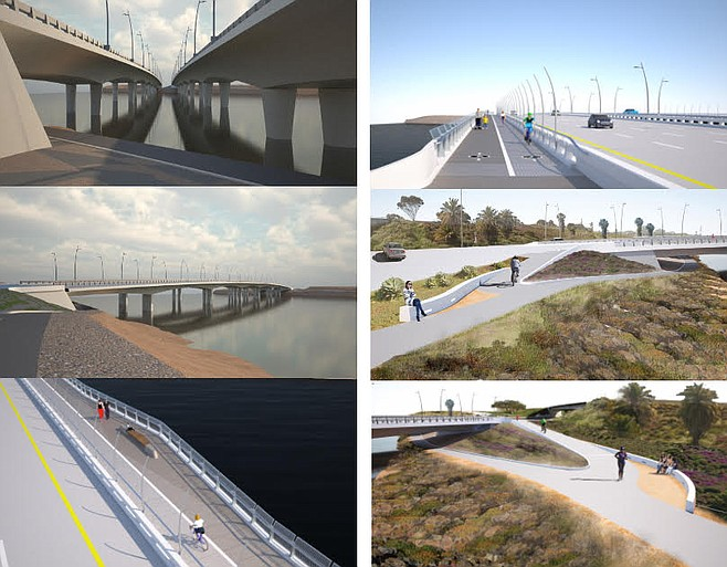 City drawings of bridge-to-be