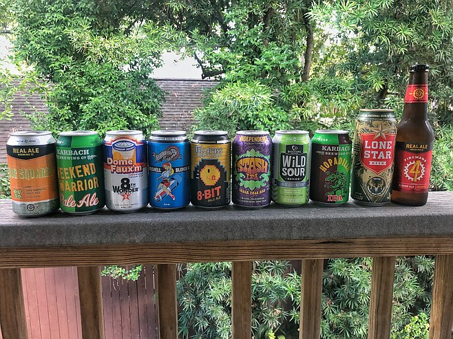 A sampling of local Houston and Texas beers.