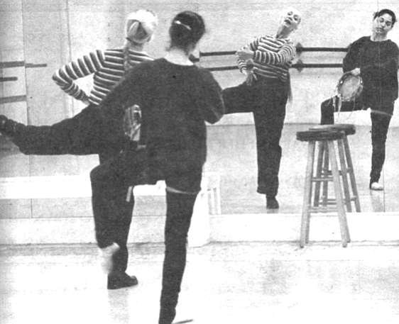 "Elizabeth Wistrich (in stripes), City Ballet: ""I really like it that each company has its own distinctive character,."""