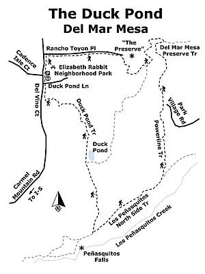 Duck Pond Del Mar Mesa map