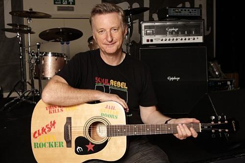 British rocker Billy Bragg, who heads up Jail Guitar Doors with MC5's Wayne Kramer