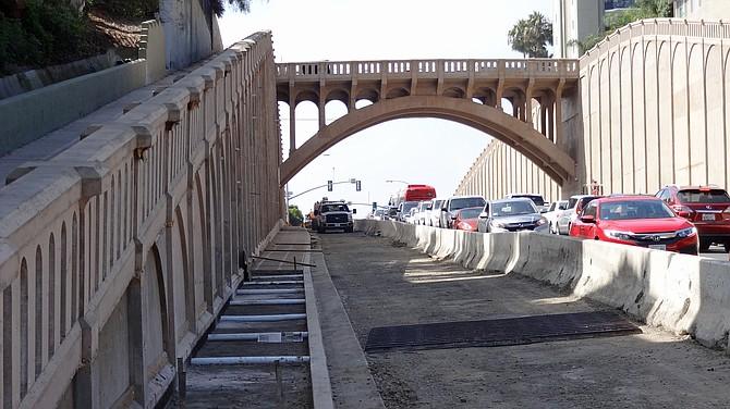 Georgia Street Bridge on Oct. 26
