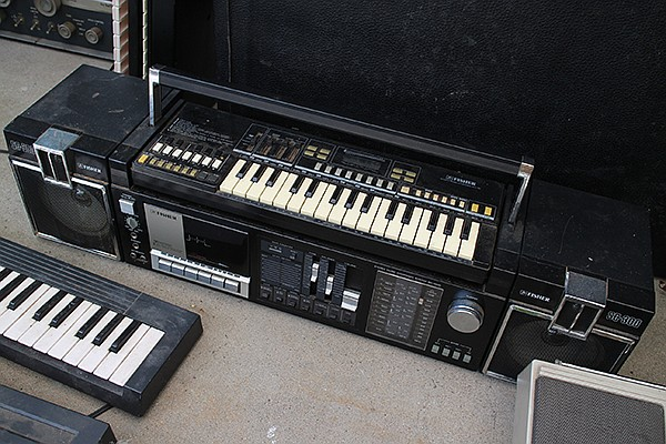Boombox/removable mini-keyboard