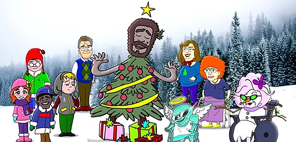"""The Christmas tree don't want to be cut down,"" sings the tree in songwriter Jefferson Jay's animated series The Hunt For the Great Christmas Tree."