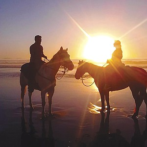 Surfside Ranch beach horseback riding