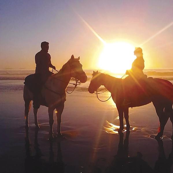 Surfside Ranch beach horseback riding