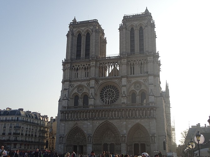 Walking Towards Notre Dame Cathedral