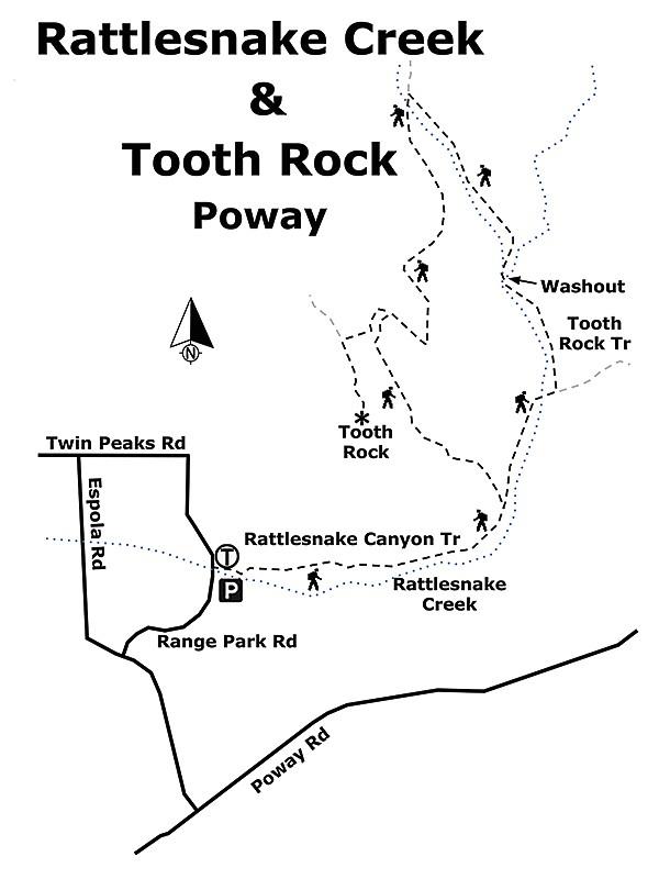 Rattlesnake Creek & Tooth Rock map