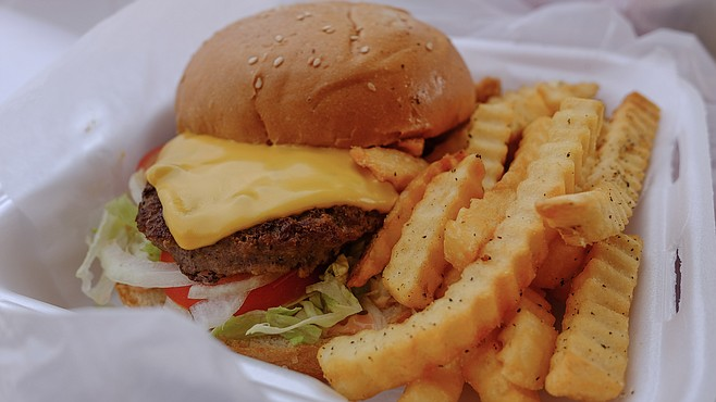 Only $6 for a cheeseburger and crinkle cut fries. But ho hum.