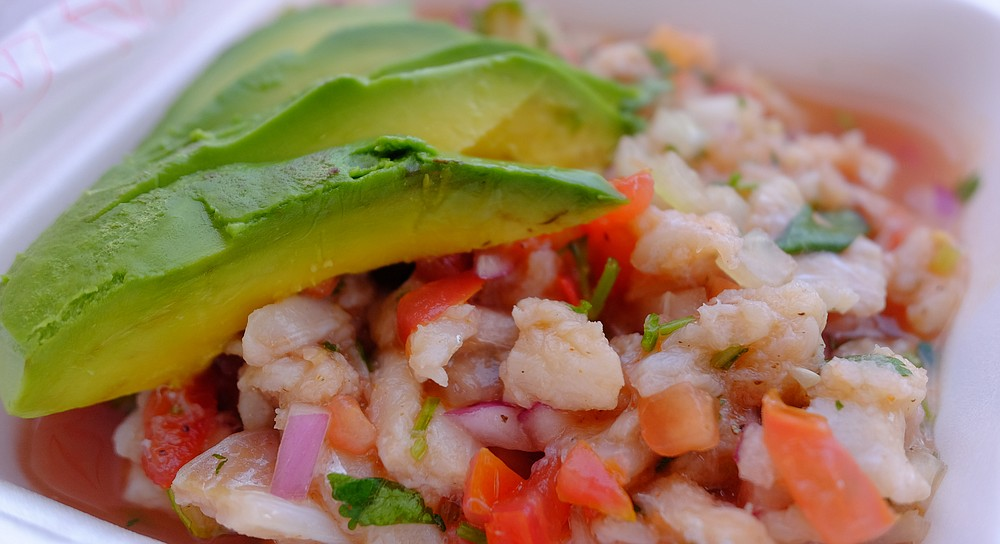 This ceviche might be pollack, depending who's working when you ask.