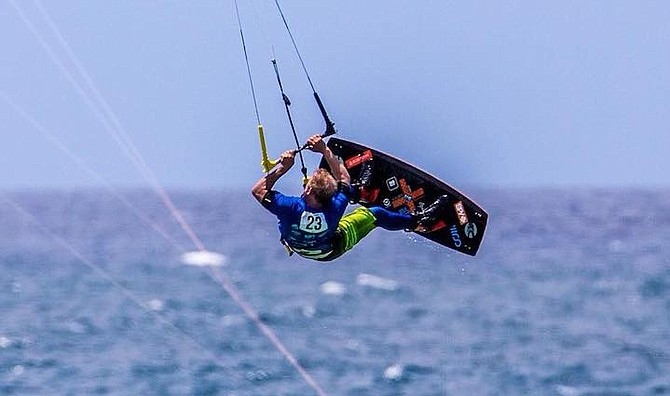 """Dan Larsen:  """"got yanked hard backwards as my kite crashed """""""