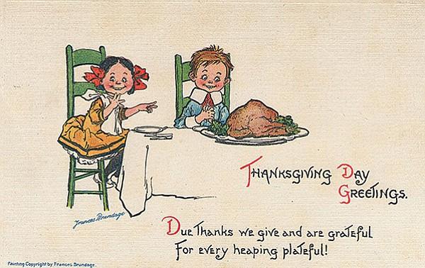 Frances Brundage Thanksgiving