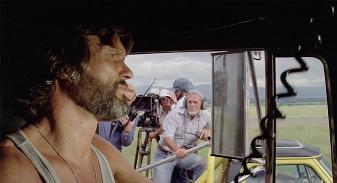 Sam Peckinpah's booming cameo in Convoy.