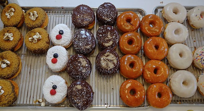 Assorted gourmet donuts, never more than a couple hours old at The Goods in Carlsbad Village