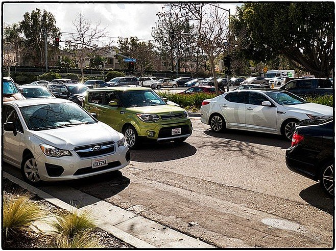 Hazard traffic onto Frazee, January, 2017