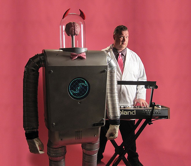 The Professor and his robot
