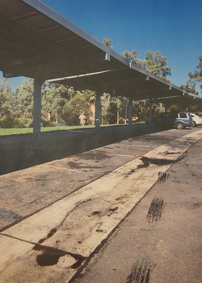 Where car and car port burned.