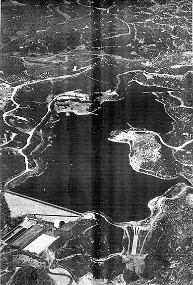 Reservoir fed by imported water