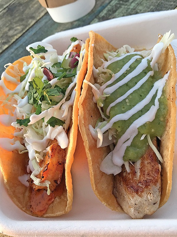 What $15 buys: Third night I get my tuna taco, along with one more shrimp taco