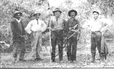 Frank Forster, second from left. In 1864 Pio Pico sold the entire estate, all 133,440 acres, to his brother-in-law, John Forster, for $14,000.