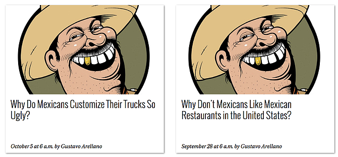 From Gustavo Arellano's Ask a Mexican column in the OCWeekly