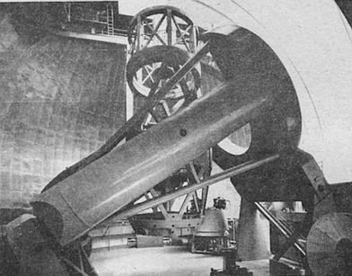 The concept of building the telescope on Palomar Mountain reportedly was born when Alfred Einstein sailed into San Diego Bay in 1931.