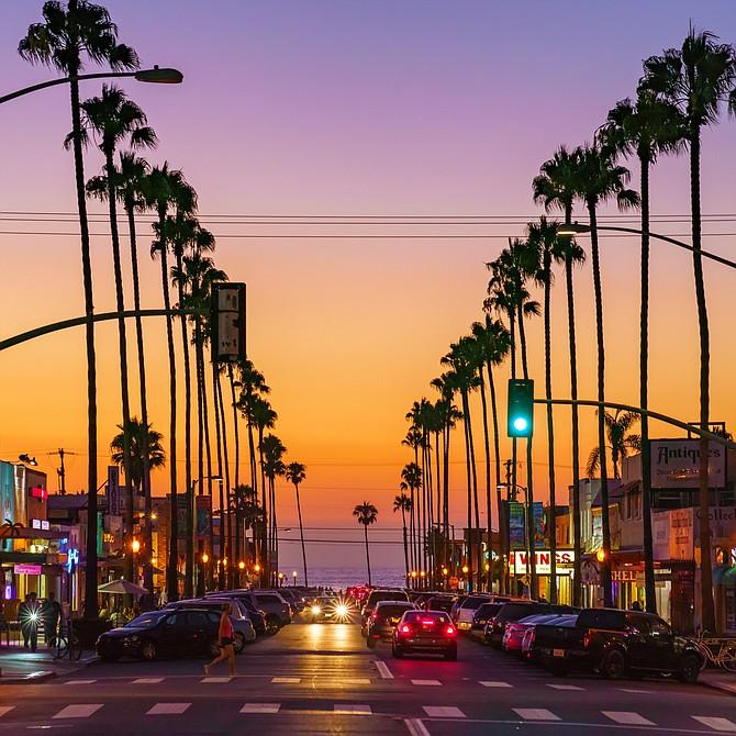 Newport Avenue, Ocean Beach during the summer! - by McClean Photography