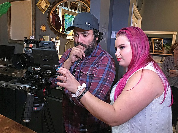 Director and producer, Raul Urreola with Christie Williams