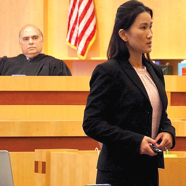 Judge Carlos Armour, prosecutor Teresa Pham.