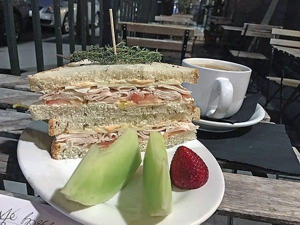 My roast chicken sandwich, plenty for a lunch