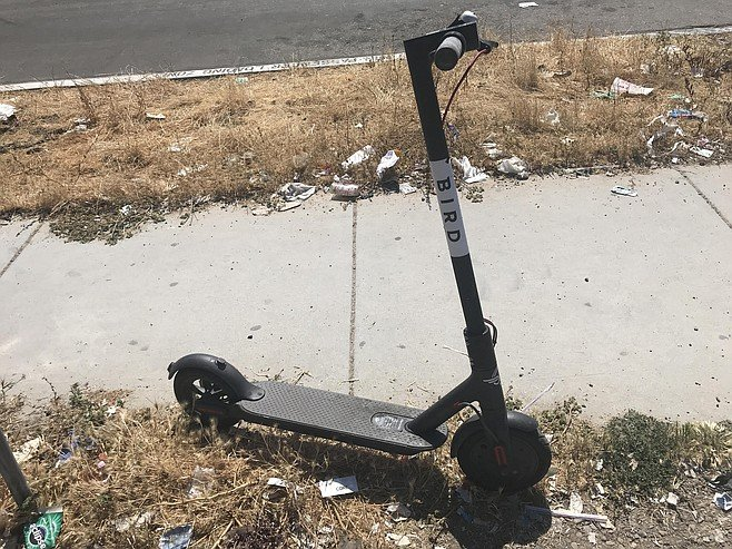 "Word on the street is that some kids are ""hacking the scooters."""