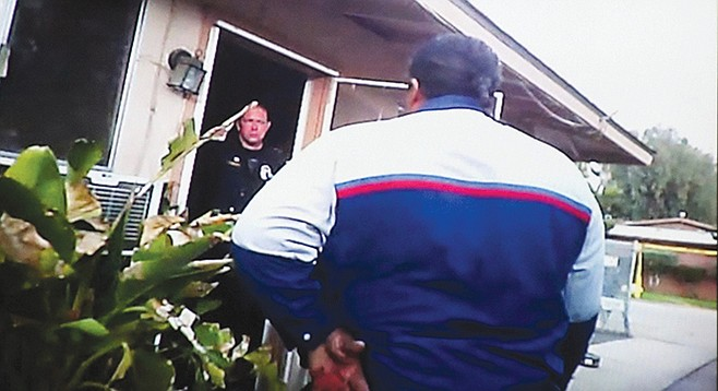 Cops were trying to keep Walter outside while paramedics checked Monette