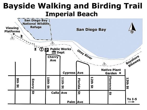 Bayside Walking & Birding Trail map