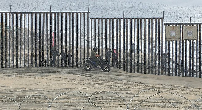Border Patrol in action.