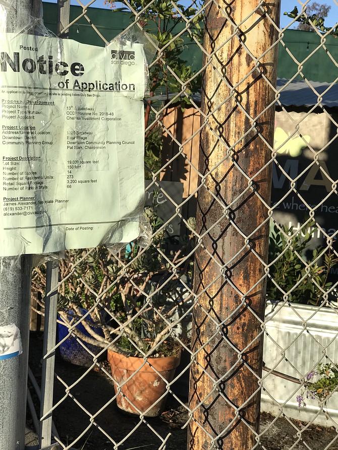 Redevelopment notice on the SMARTS Farm  perimeter