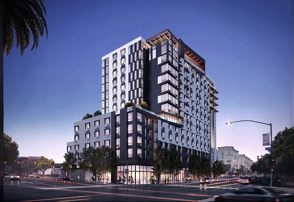 Rendering of new  housing at 13th and Broadway