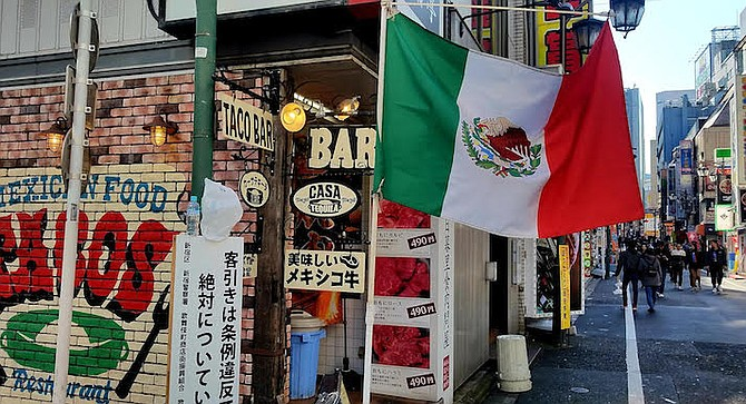"Casa Tequila Tokyo. ""The taco shop is located across from the JR Shinjuku (railway) station."""