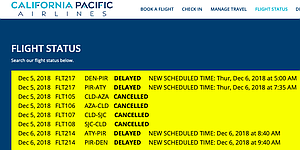 Day three of cancellations due to maintenance issues with CPAir's one and only plane.
