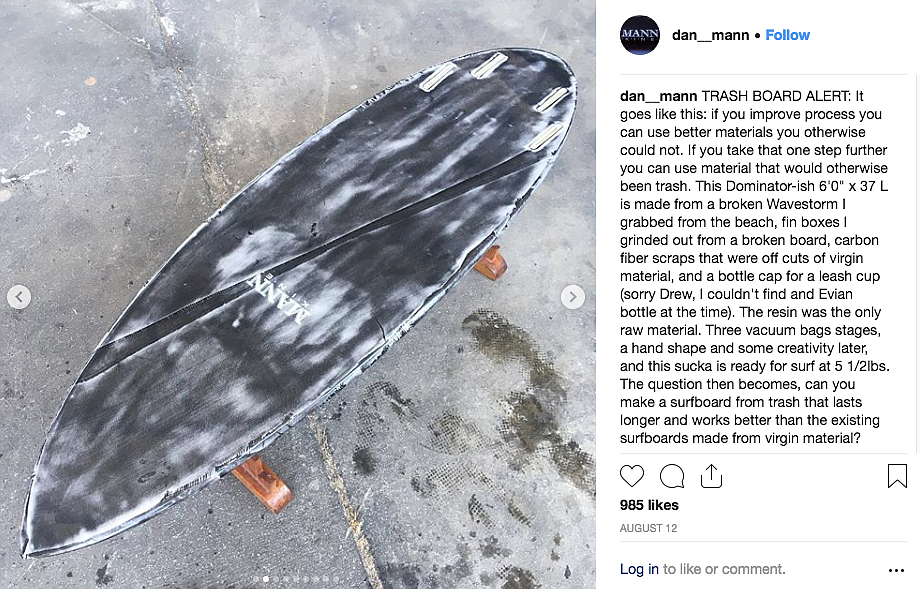 "The trash board he posted on his Instagram account sold for ""a lot."""