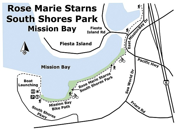 Rose Marie Starns South Shores Park map